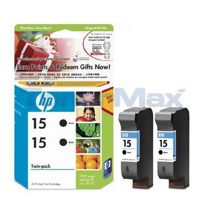 HP 15 INKJET PRINT CART BLACK TWIN PACK